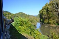 Train in Iskar river gorge,Bulgaria Royalty Free Stock Image