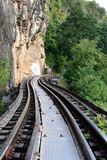 Train Journey Along River Kwai, Kanchanaburi, Thailand Stock Images