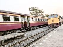 Train. Journey.Next station Kanchanaburi in stock photos