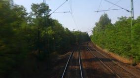 Railway travel view stock video