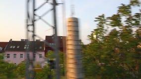Train journey window view stock video