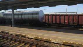 Train journey window view stock video footage