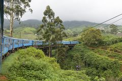 Train from Kandy to Ella in Sri Lanka. The train ride from Kandy to Ella is one of the most beautiful travels by train in the world. For seven hours the train is Stock Images