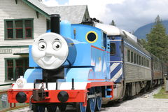 Train for kids. Blue train for kids Stock Image