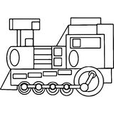 Train kids coloring pages geometrical figures Royalty Free Stock Images