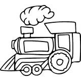 Train kids coloring pages Royalty Free Stock Photography