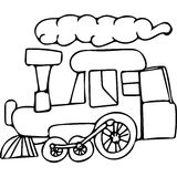 Train kids coloring pages Stock Photography