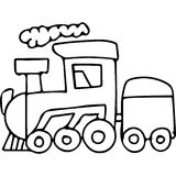 Train kids coloring pages Stock Images