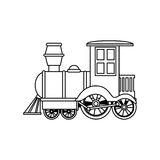 Train kids toy isolated icon Royalty Free Stock Photography