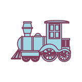 Train kids toy isolated icon Stock Photo