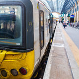 Train at the Kings Cross station in London Royalty Free Stock Photography