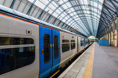Train at the Kings Cross station in London Royalty Free Stock Image