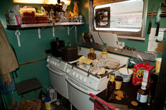 Train kitchen Stock Image