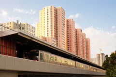 Train at Kowloon Bay Stock Photography