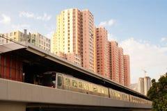 Train at Kowloon Bay. District, Kowloon, Hong Kong, China Stock Photography