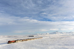 Train and landscape in Kars, Turkey Stock Image