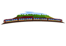 The train and landscape Royalty Free Stock Photo