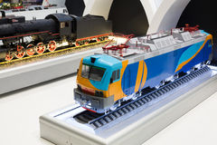 Train layout in VI International Exhibition Transport of Russia Royalty Free Stock Images