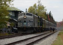 Train layover at Big Moose Station in ADK Mountains Stock Photos