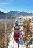 train leading to the Italian Alps stock photo
