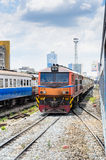 The train leave from Hua lamphong Stock Images