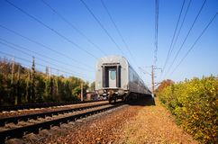 Train leaves Royalty Free Stock Photography