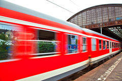 Train leaves the station Royalty Free Stock Images
