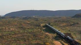 Train leaving Alice Springs station, Australia stock video