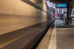Train leaving the station of Zurich - 2 Stock Image