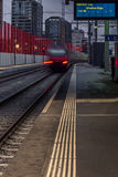 Train leaving the station of Zurich - 5 Royalty Free Stock Photo