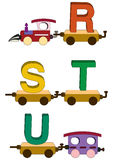 Train letters and numbers Stock Photos