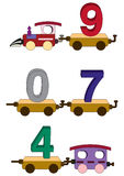 Train letters and numbers Royalty Free Stock Photography