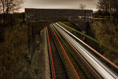 Train Light Trails Royalty Free Stock Photos