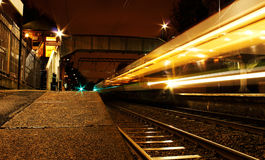 Train Light Trails Stock Photography