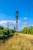 Train Lights at a railway (semafor) Stock Image