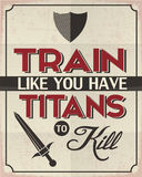Train Like You Have Titans to Kill Royalty Free Stock Photography