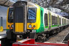 Train in Lime Street Railway Station. Royalty Free Stock Photography