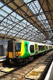 Train in Lime Street Railway Station. Royalty Free Stock Photo