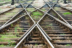 Train line crossing Stock Images