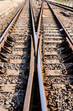Train line crossing Royalty Free Stock Photos
