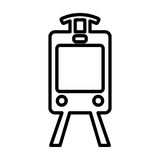 Train line icon. Tram outline sign. Vector pictogram Stock Photos