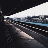 Train Line. Kelana Jaya Train, Selangor royalty free stock images