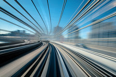 Train line motion blur. Stock Photography