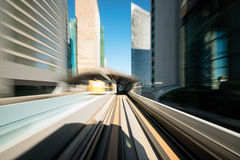 Train line motion blur. Stock Image