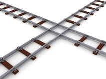 Train line rails crossing concept illustration Stock Image
