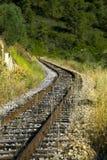 Train line. By the Tua river stock photos