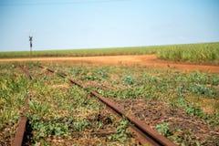 Train line. Vintage rail railway royalty free stock images
