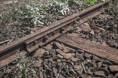 Train line. Vintage rail railway stock photos
