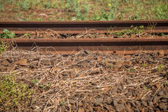 Train line. Vintage rail railway royalty free stock photos