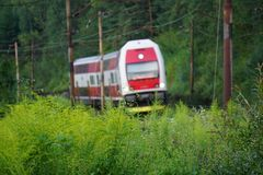 Train. Local power train from slovakia Royalty Free Stock Images